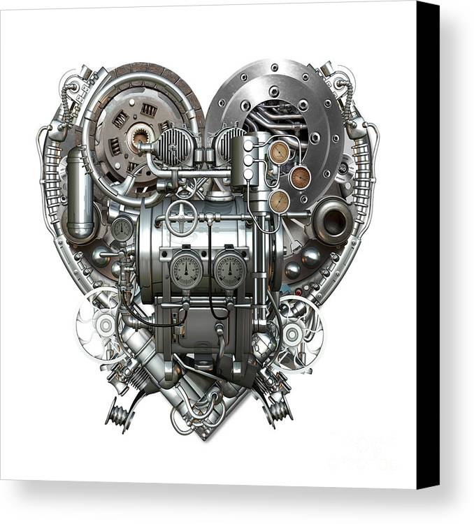 Love Canvas Print featuring the mixed media Heart by Diuno Ashlee