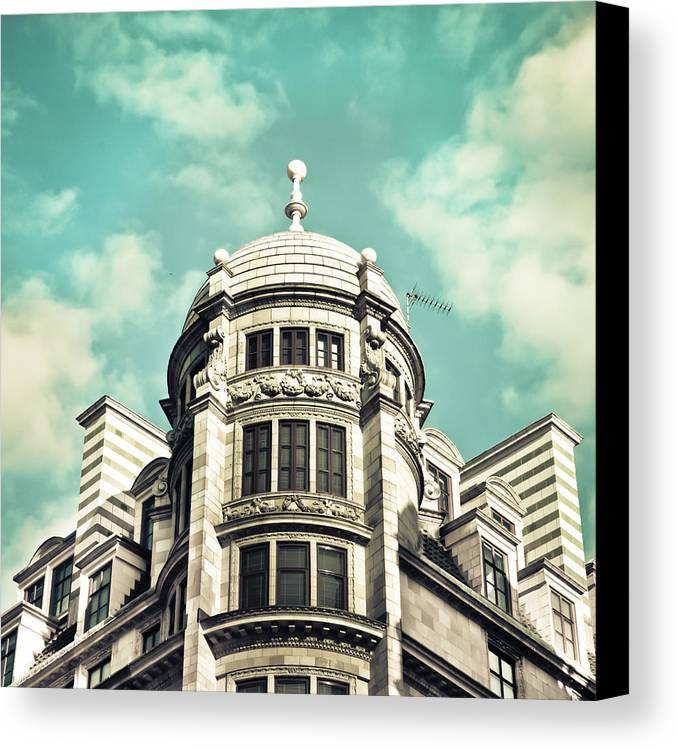 Apartment Canvas Print featuring the photograph London Architecture by Tom Gowanlock