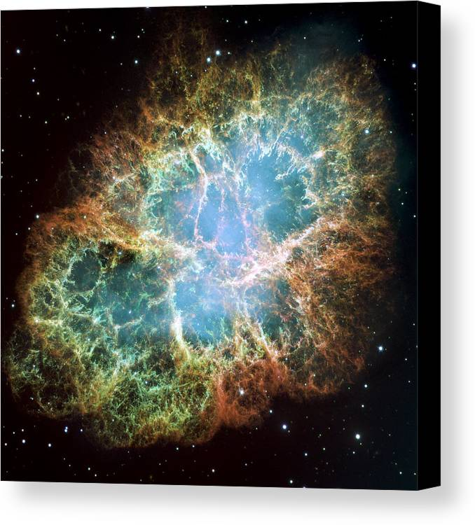 3scape Photos Canvas Print featuring the photograph Most Detailed Image Of The Crab Nebula by Adam Romanowicz