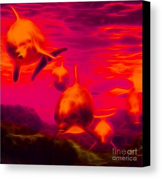 Animal Canvas Print featuring the photograph Odyssey V2 - Square by Wingsdomain Art and Photography