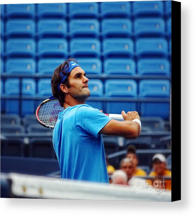 Roger Federer Canvas Print featuring the photograph Roger Federer by Nishanth Gopinathan