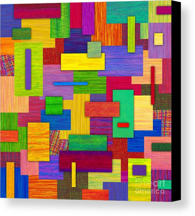 Colored Pencil Canvas Print featuring the painting Sampler by David K Small