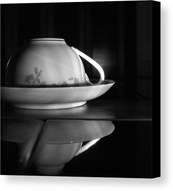 Black And White Canvas Print featuring the photograph Shadows 2 by Tom Druin