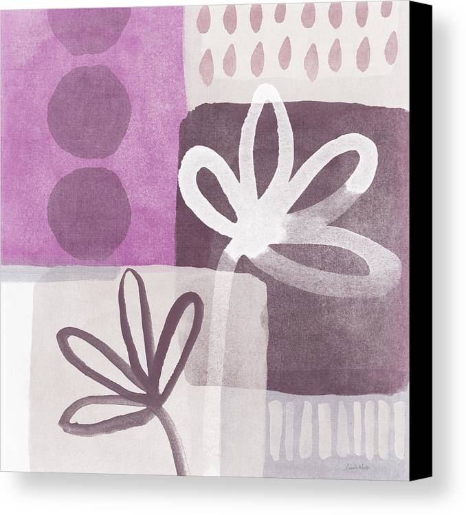 Hope Canvas Print featuring the mixed media Simple Flowers- Contemporary Painting by Linda Woods