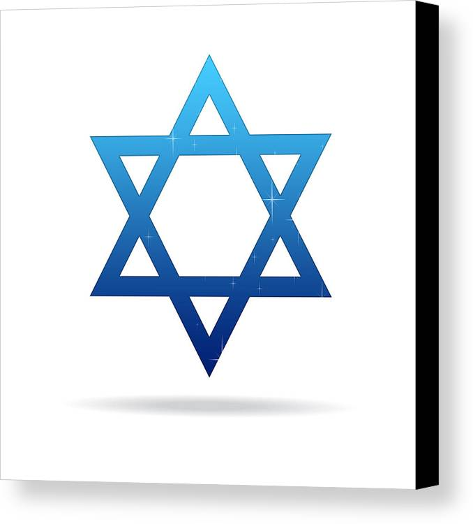 Abstract Canvas Print featuring the drawing Star Of David by Aged Pixel