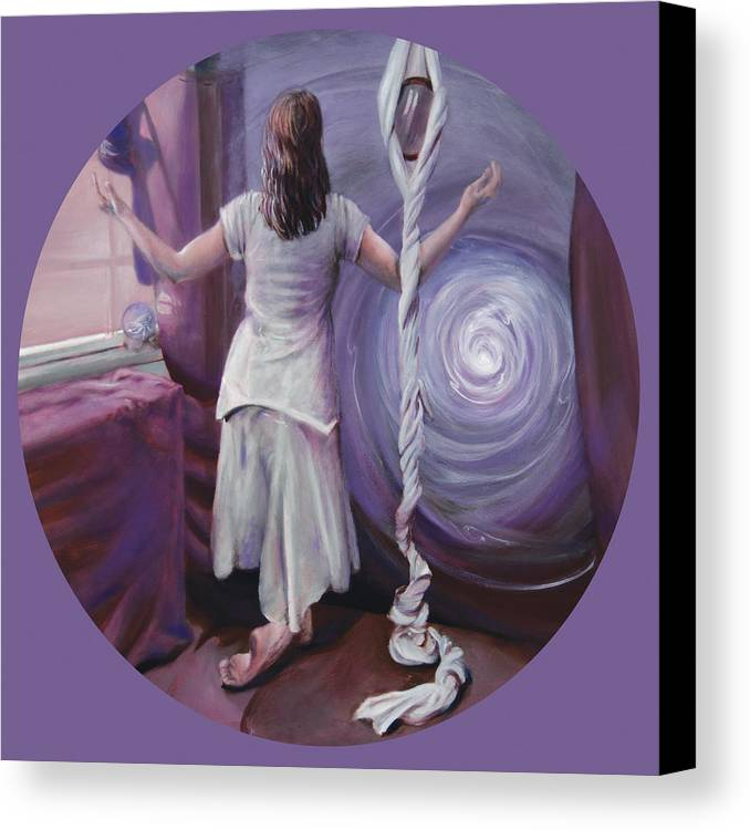 Shelley Irish Canvas Print featuring the painting The Devotee by Shelley Irish