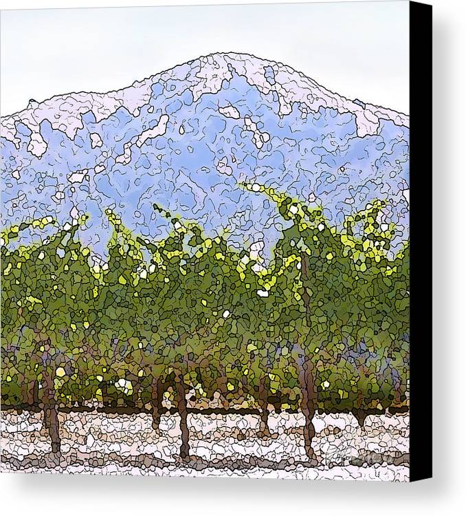 Cour De Valle Vineyard Canvas Print featuring the painting The Taste Of Wine by Artist and Photographer Laura Wrede