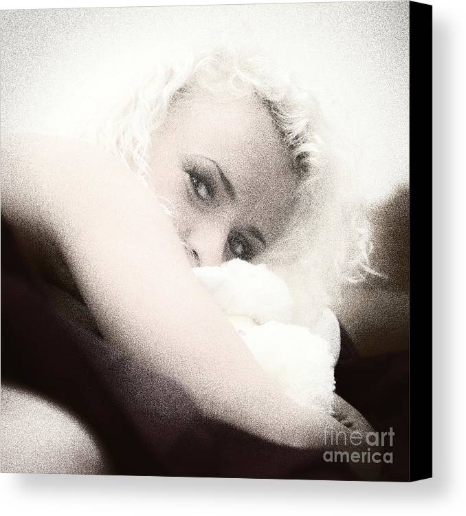 Adult Canvas Print featuring the photograph Vintage Eyes by Stelios Kleanthous