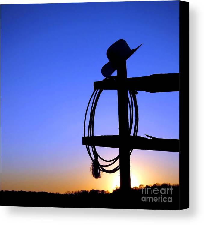 Western Canvas Print featuring the photograph Western Sunset by Olivier Le Queinec