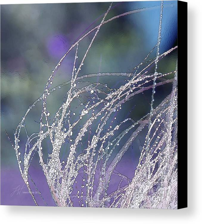 Grass Canvas Print featuring the painting Winter Grass by Artist and Photographer Laura Wrede