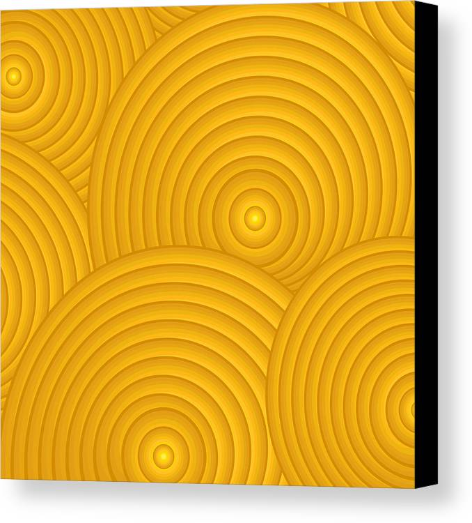 Frank Tschakert Canvas Print featuring the painting Yellow Abstract by Frank Tschakert