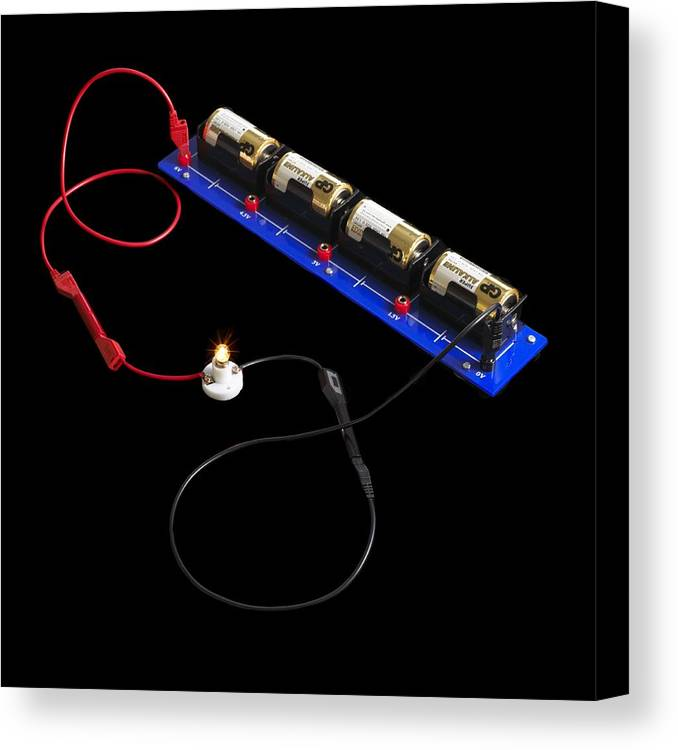 Experiment Canvas Print featuring the photograph Electrical Circuit by