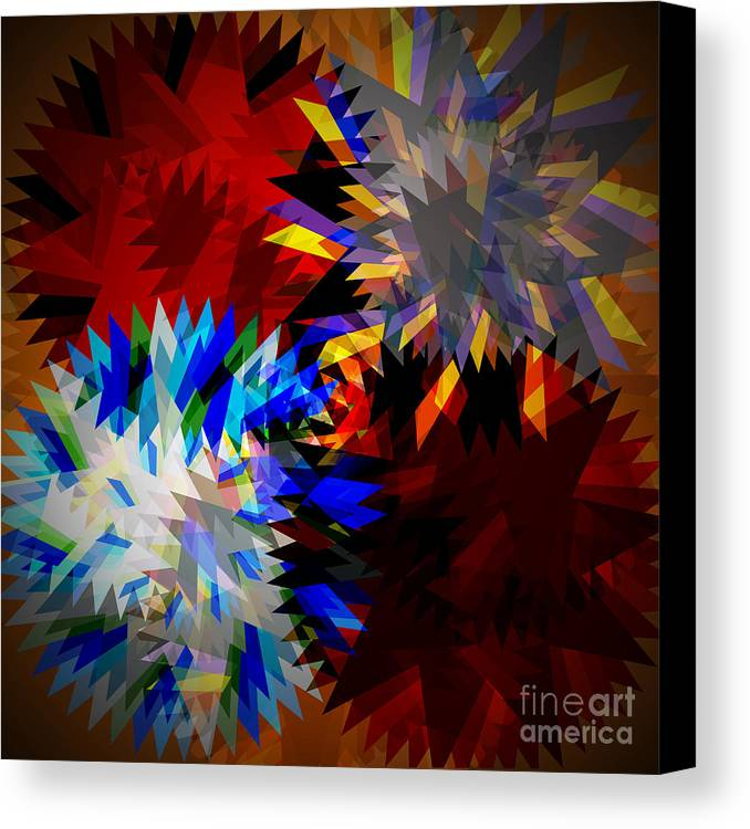 Allure Canvas Print featuring the digital art Allure Blade by Atiketta Sangasaeng