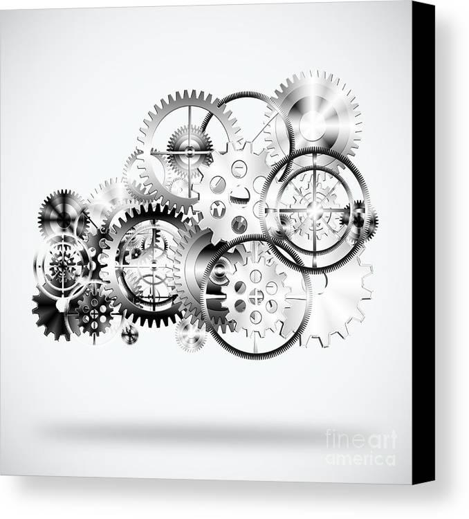 Art Canvas Print featuring the photograph Cloud Made By Gears Wheels by Setsiri Silapasuwanchai