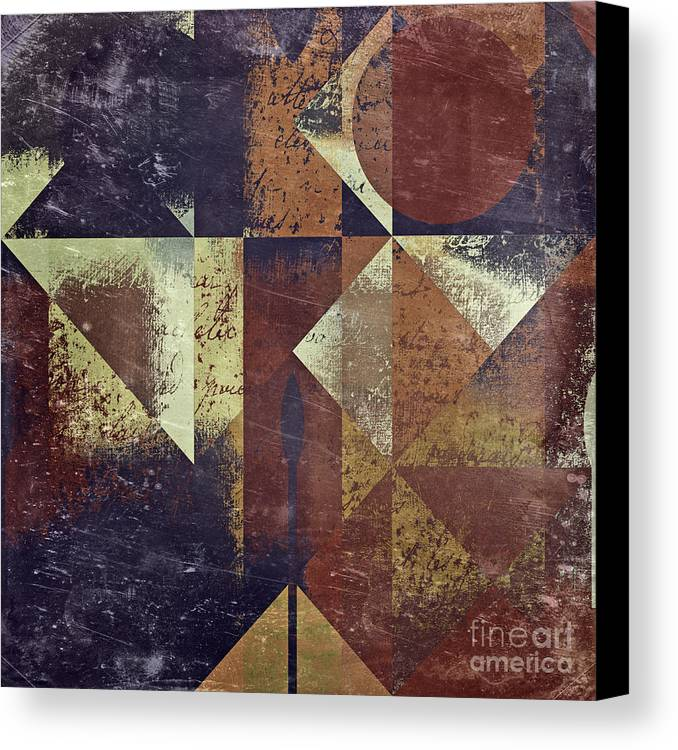 abstract Art Canvas Print featuring the digital art Geomix 04 - 6ac8bv2t7c by Variance Collections