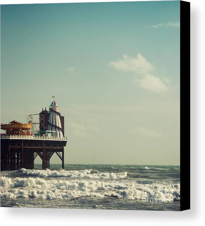 Helter-skelter Canvas Print featuring the photograph Helter-skelter On Brighton Pier by Paul Grand