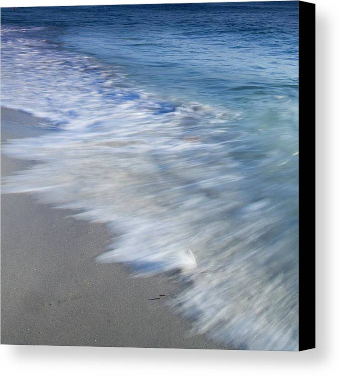 Waves Canvas Print featuring the photograph Incoming by Ryan Weddle