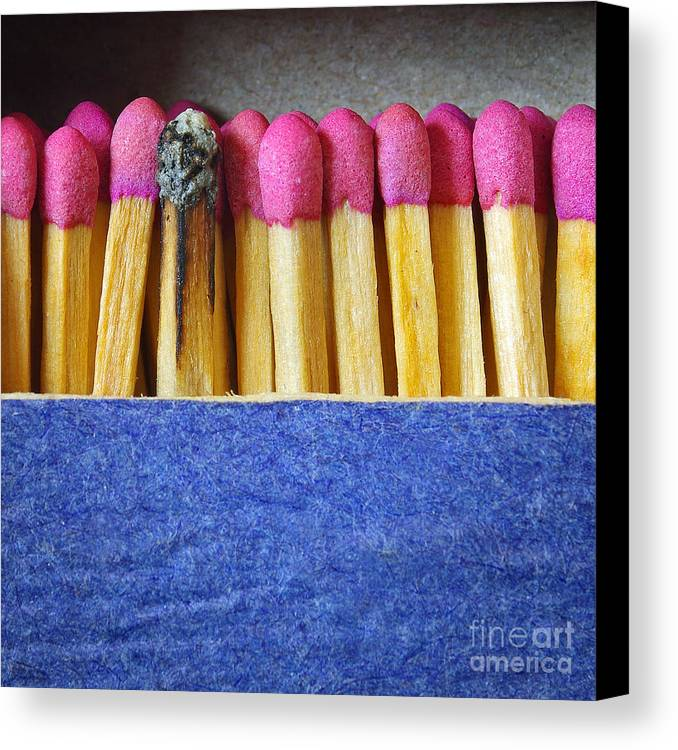 Blue Canvas Print featuring the photograph Matchbox by Carlos Caetano