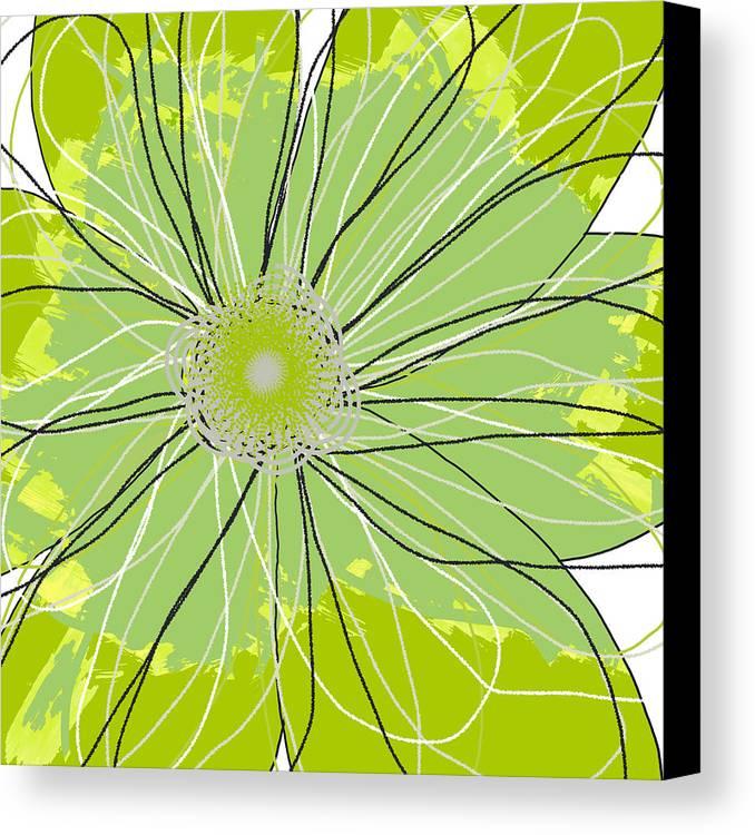 Canvas Art Canvas Print featuring the mixed media Moda Flower Mix I by Ricki Mountain