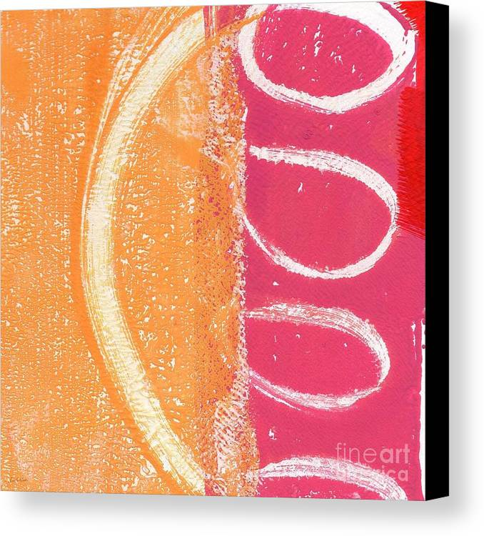 Abstract Canvas Print featuring the painting Sante Fe Sunrise by Linda Woods