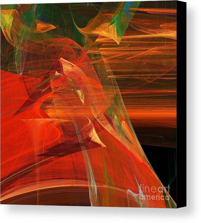Fractal Canvas Print featuring the digital art The Bird Whisperer . Square . A120423.693 by Wingsdomain Art and Photography