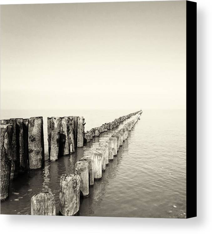 Breakwater Canvas Print featuring the photograph Breakwaters by Wim Lanclus