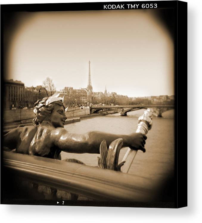 Paris Canvas Print featuring the photograph A Walk Through Paris 7 by Mike McGlothlen