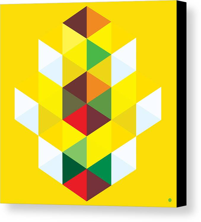 Modern Art Canvas Print featuring the painting Abstract Cubes by Gary Grayson
