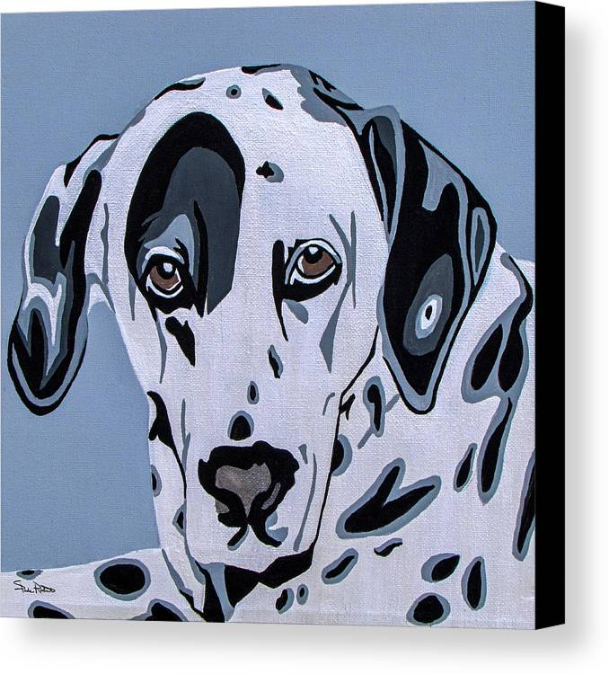 Dalmatian Canvas Print featuring the painting Dalmatian by Slade Roberts