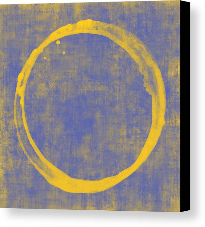Circle Canvas Print featuring the painting Enso 1 by Julie Niemela