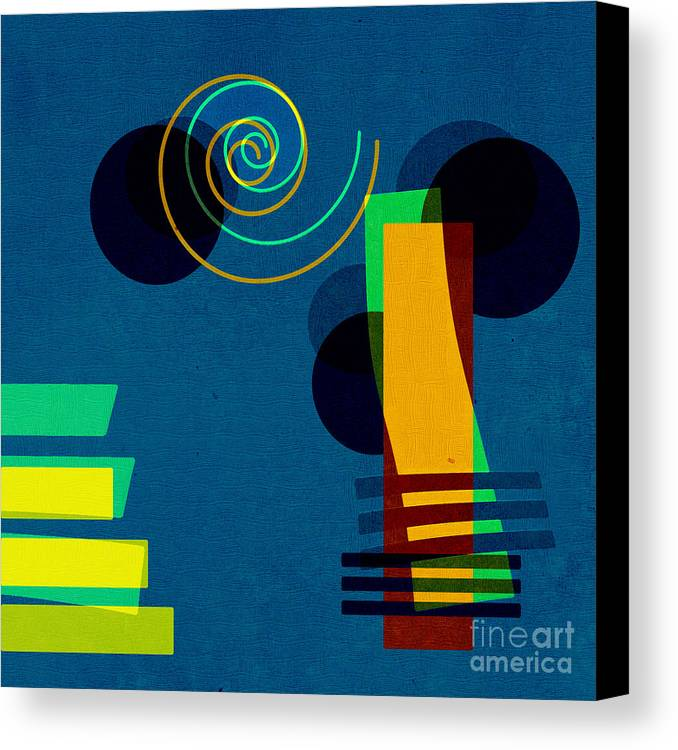 Abstract Canvas Print featuring the digital art Formes - 03b by Variance Collections