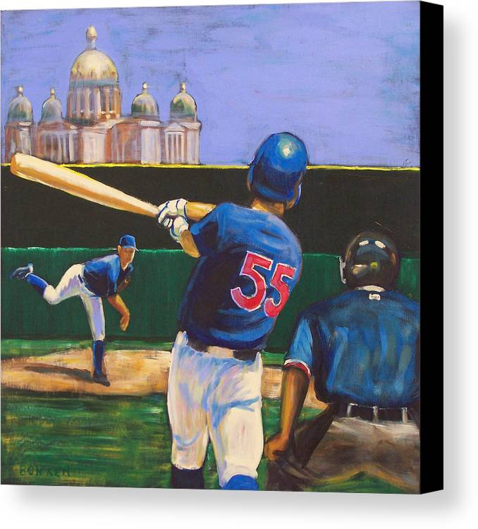 Iowa Canvas Print featuring the painting Home Run by Buffalo Bonker