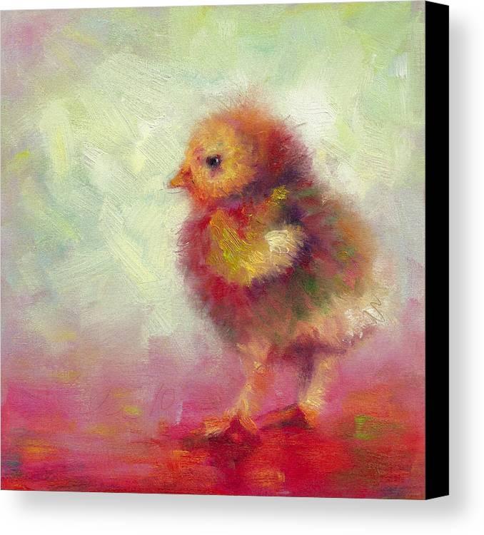 Impressionist Chick Canvas Print by Talya Johnson