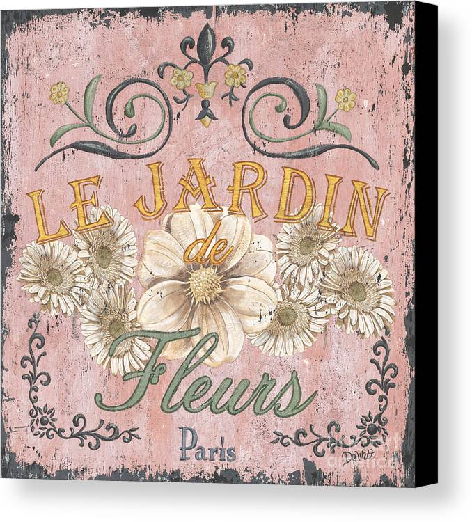 Le Jardin Canvas Print featuring the painting Le Jardin 1 by Debbie DeWitt