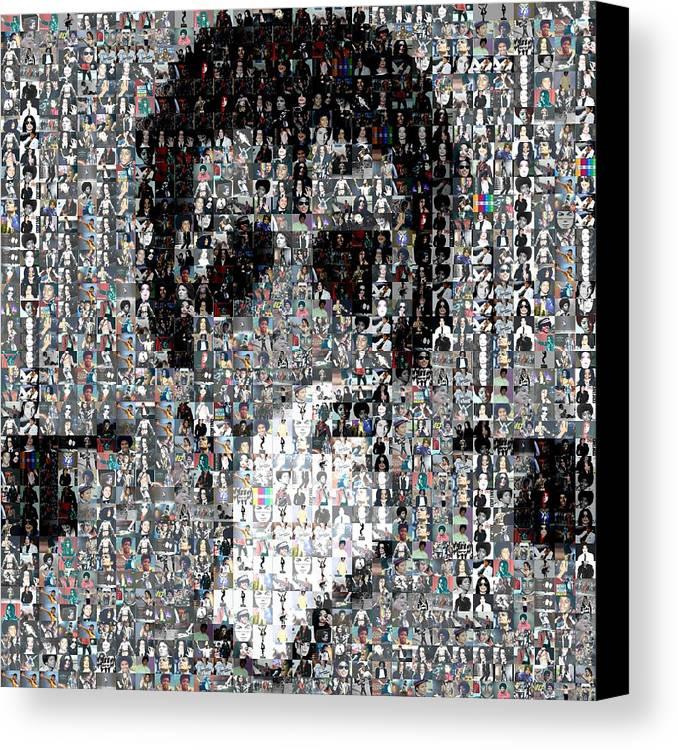 Michael Jackson Canvas Print featuring the mixed media Michael Jackson Glove Montage by Paul Van Scott