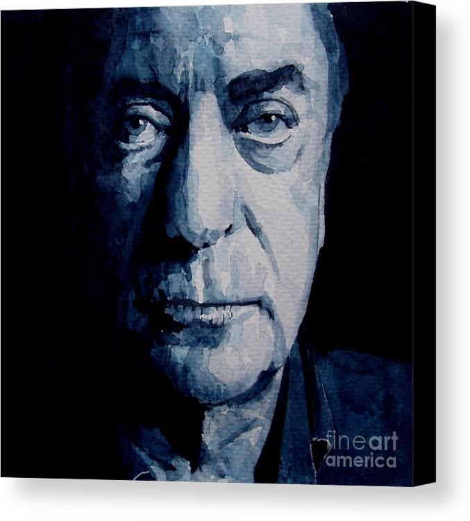 Michael Caine Canvas Print featuring the painting My Name Is Michael Caine by Paul Lovering