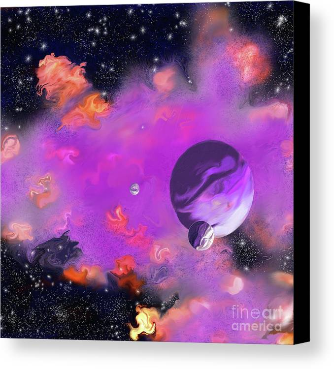 My Space Canvas Print featuring the painting My Space by Methune Hively
