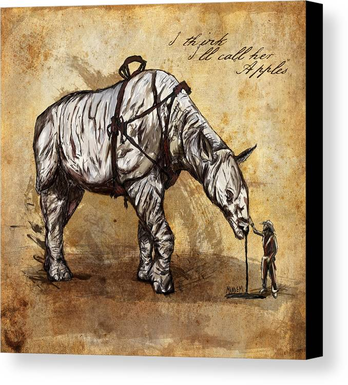 Cowboy Canvas Print featuring the drawing Neobedouin - Cowboy by Mandem