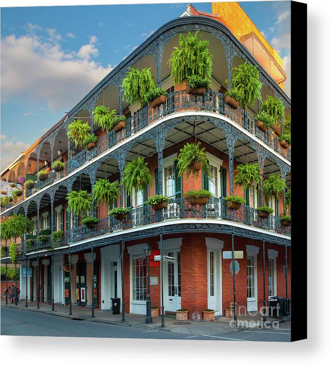 America Canvas Print featuring the photograph New Orleans House by Inge Johnsson