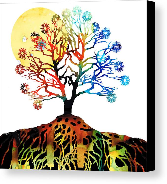 Tree Canvas Print featuring the painting Spiritual Art - Tree Of Life by Sharon Cummings
