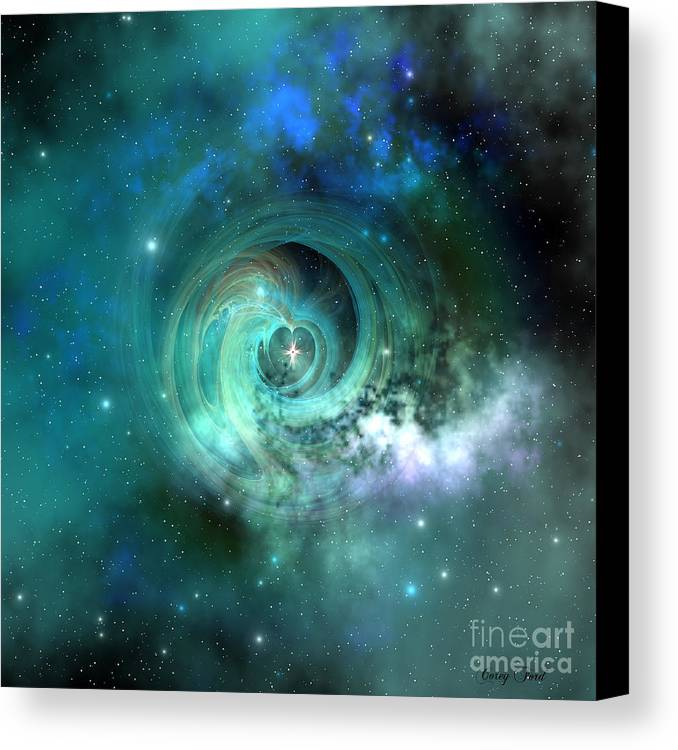 Universe 3d Canvas Print featuring the painting Stellar Matter by Corey Ford