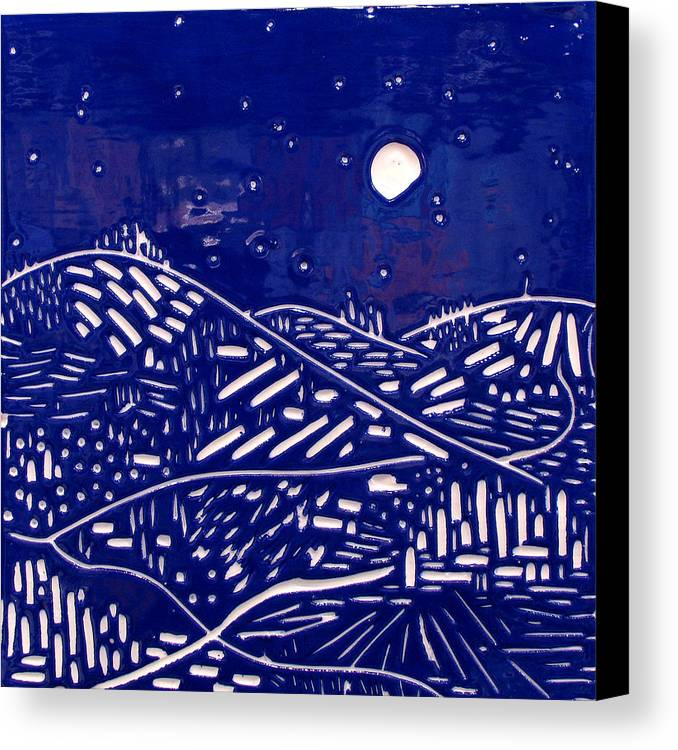 Fantasy Canvas Print featuring the relief Sweet Night by Jason Messinger