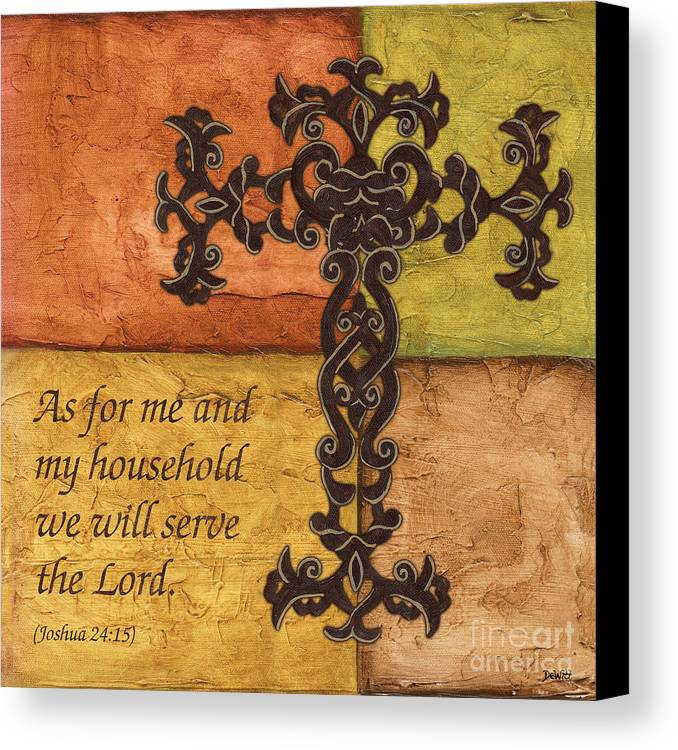 Cross Canvas Print featuring the painting Tuscan Cross by Debbie DeWitt