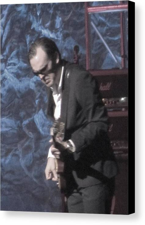 Blues Artist Joe Bonamassa Canvas Print featuring the photograph Joe Bonamassa by Todd Sherlock