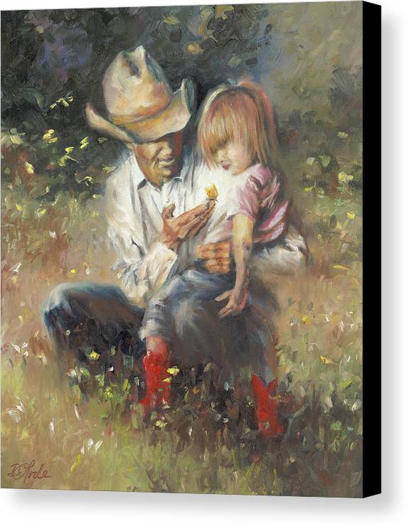 Children Canvas Print featuring the painting All Of Life's Little Wonders by Mia DeLode