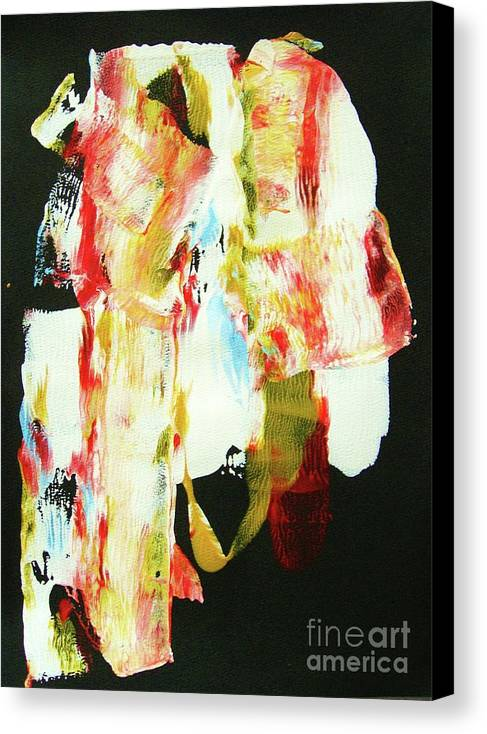 Abstraction Canvas Print featuring the painting Crazy Horse An American Hero by Roberto Prusso