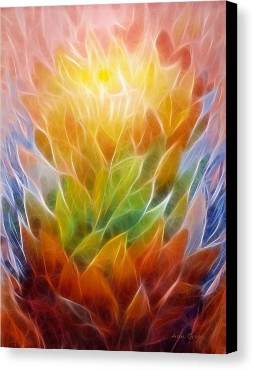 Abstract Canvas Print featuring the digital art Metamorphosis by Ann Croon