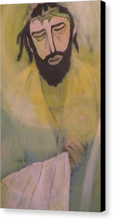 Portrait Canvas Print featuring the painting Mesiah by Robert Daniels