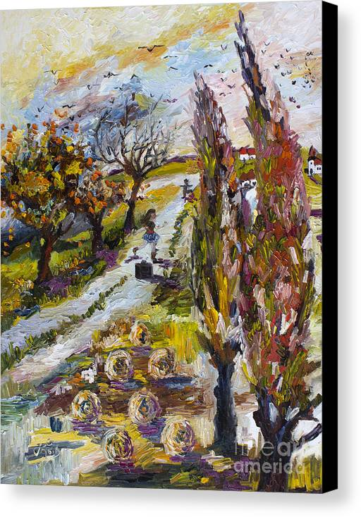 Impressionim Canvas Print featuring the painting Home For The Holidays by Ginette Callaway