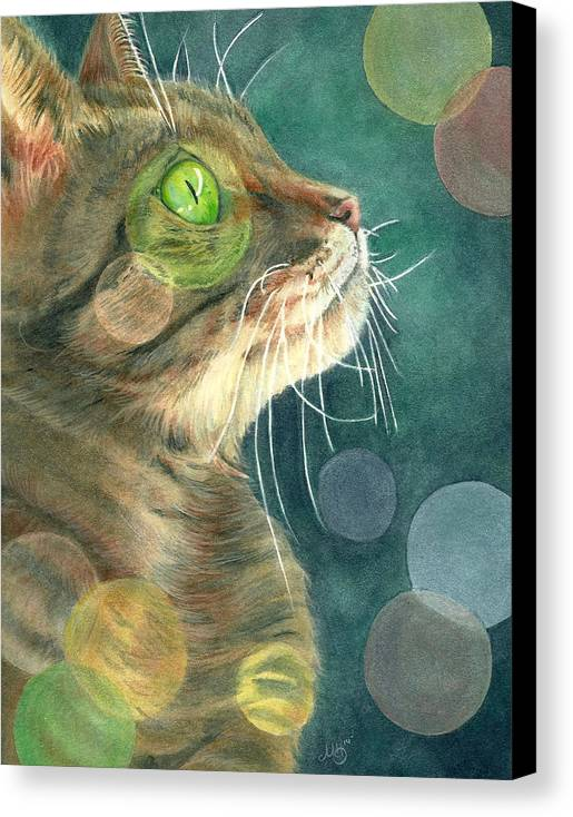 Tabby Canvas Print featuring the painting Kobi by Marcianna Howard